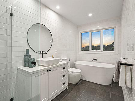 Hamptons Renovation Melbourne - Bathroom